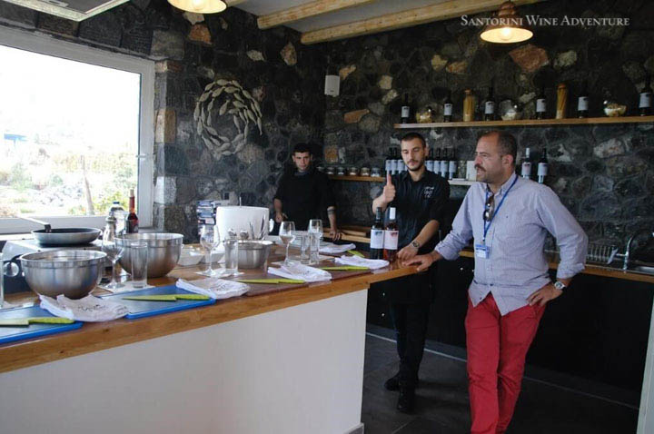 Private Santorini Cooking Lesson with Wine Tasting